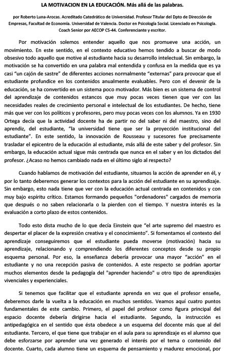 EDUCACIÓN - Roberto Luna