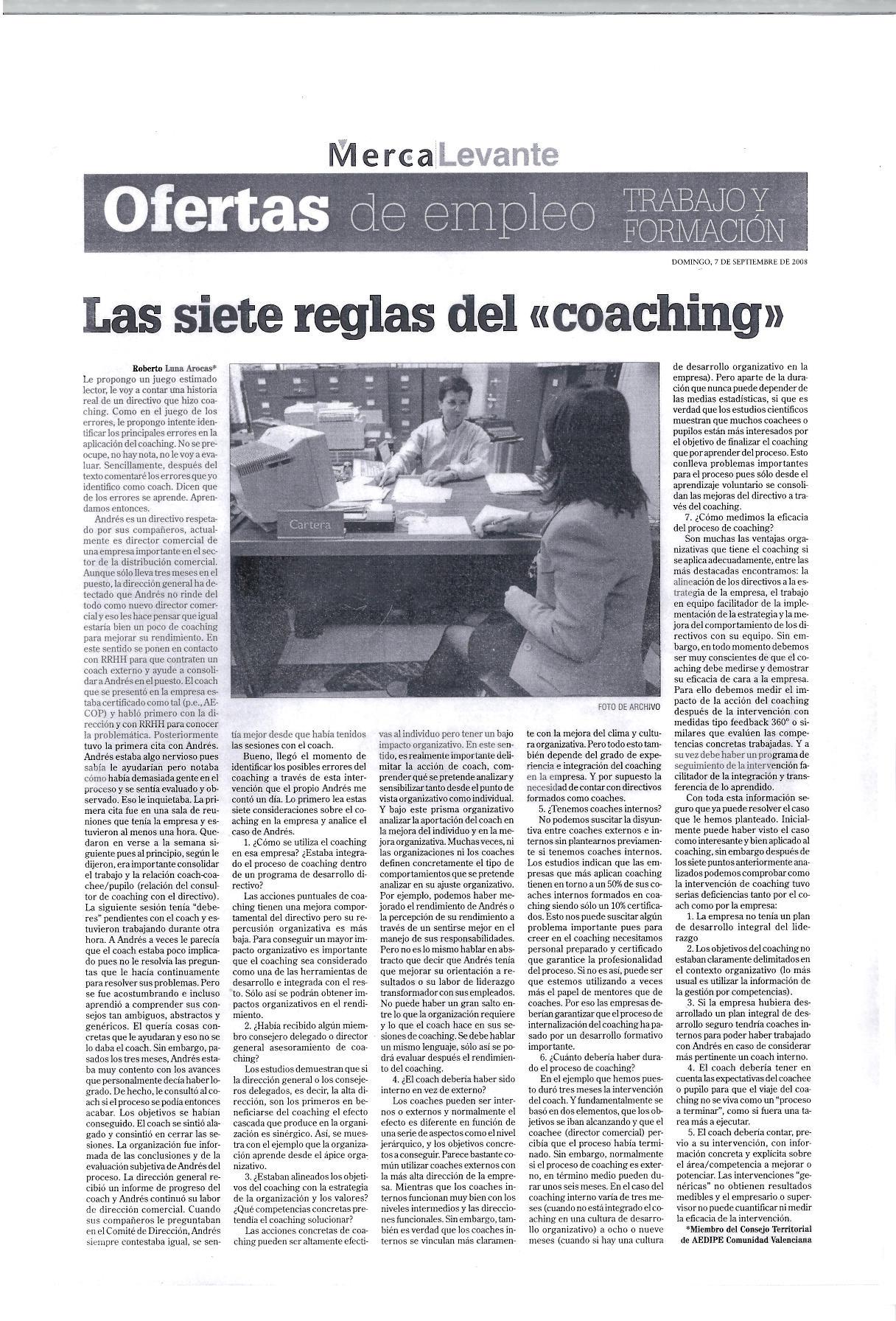 Roberto Luna - 7 reglas del coaching