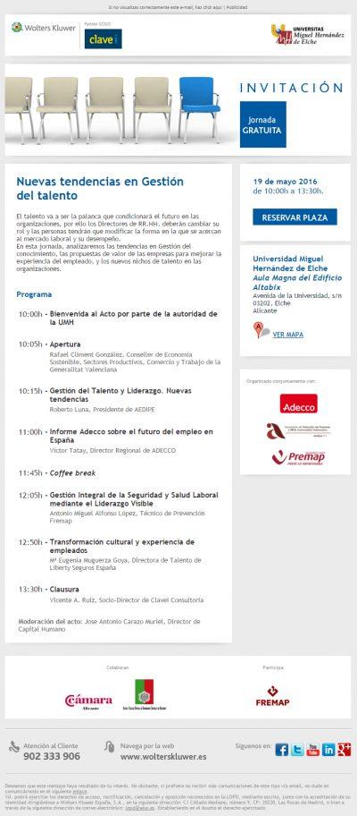Conferencia Elche Gestión Talento RRHH Roberto Luna