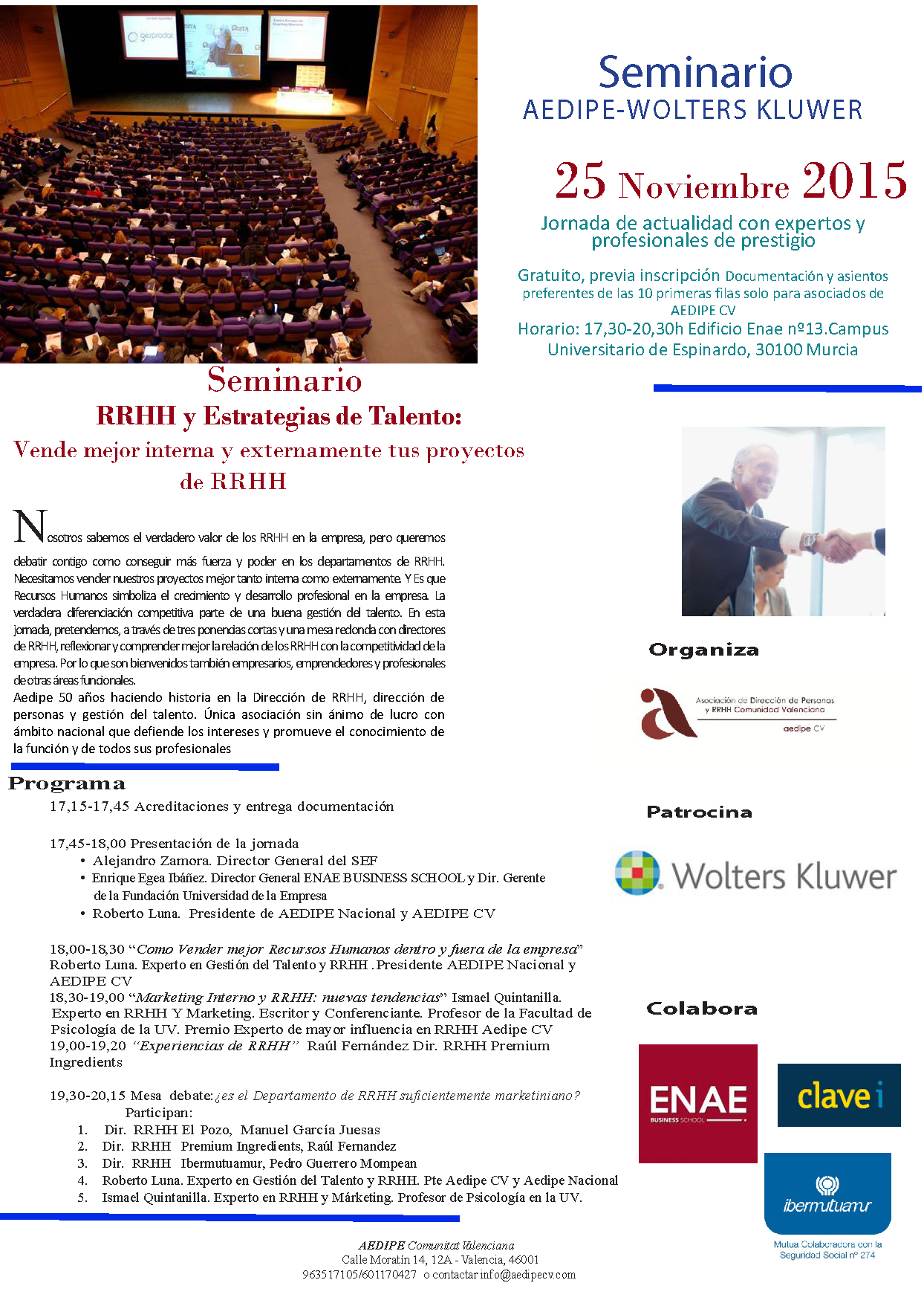 Conferencia Murcia Roberto Luna RRHH Gestión del Talento