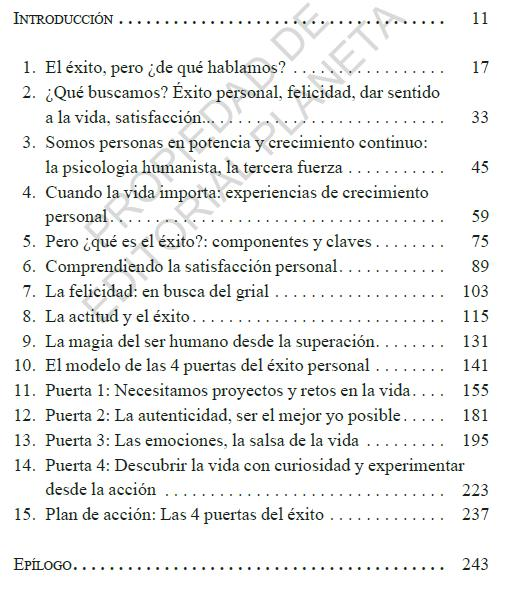 Indice del Libro Objetivo Ser Tú Mismo del autor Roberto Luna