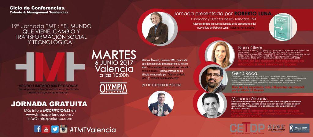 19 Jornada TMT EL MUNDO QUE VIENE. CAMBIO Y TRANSFORMACIÓN SOCIAL Y TECNOLÓGICA