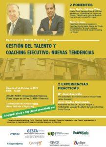 Seminario con las conferencias de Roberto Luna y JC Cubeiro sobre talento y coaching ejecutivo en valencia
