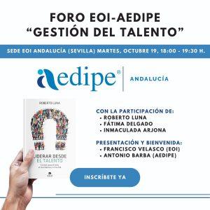 Conferencia Roberto Luna EOI y AEDIPE Andalucia Sobre Liderazgo desde el talento